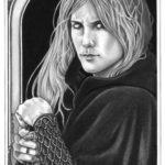 Diese Originalzeichnung von Mia Steingräber konnte man nur gewinnen, wenn man ein Cover nachstellt, dass auf der Shortlist des DRP war.