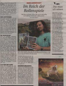 """Deutscher Rollenspielpreis in der """"Neue Westfälische"""""""