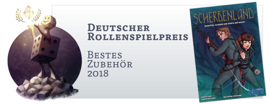 Deutscher Rollenspielpreis: Bestes Zubehör 2018 für Scherbenland